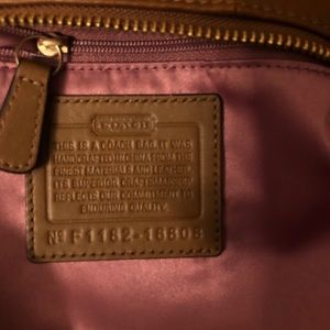 Coach Bags - Authentic Tan Leather Coach Shoulder Bag